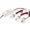 PACK 3 x Foco Led SUN MINI, 3x3W, Blanco neutro